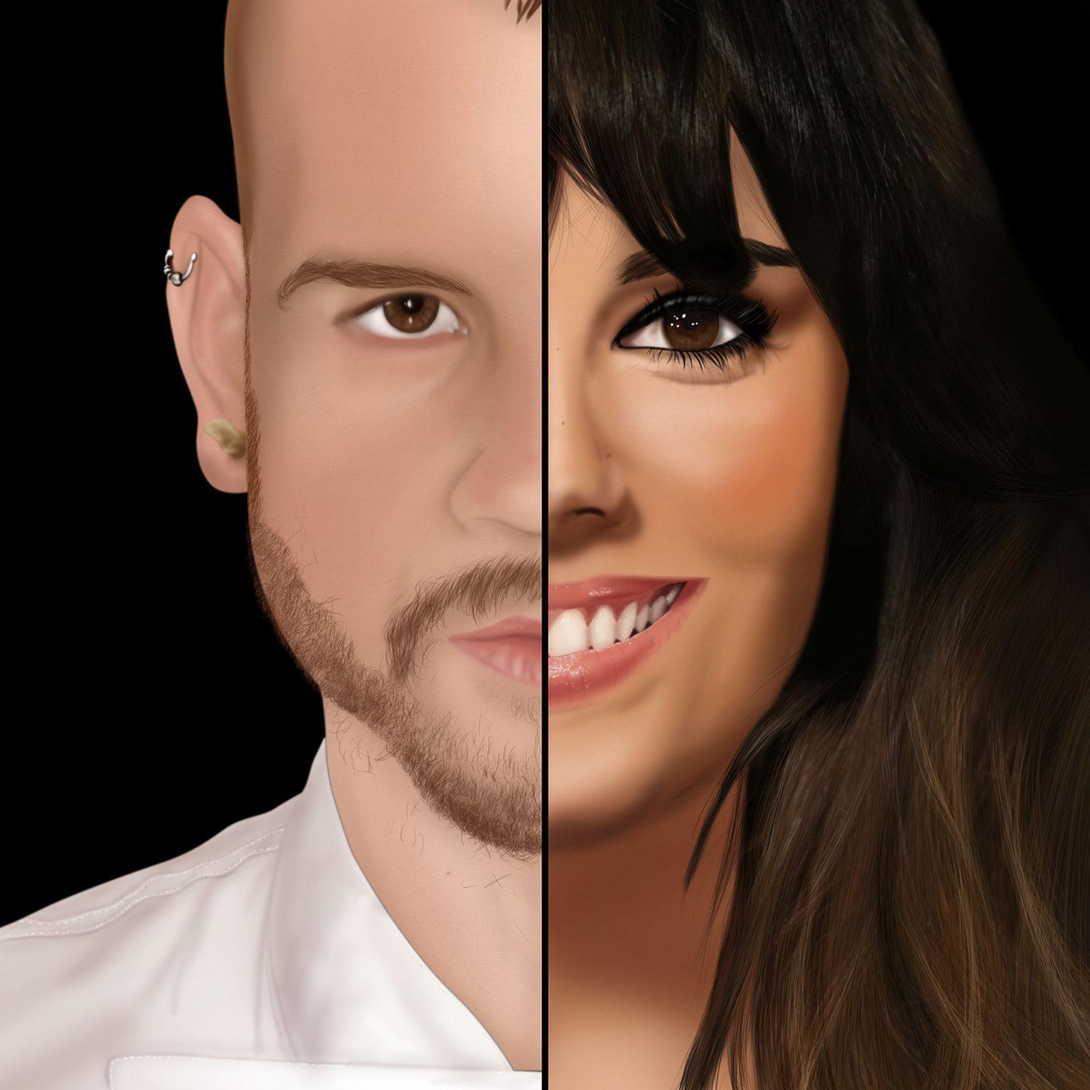 Retrato Pedroche y Muñoz